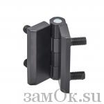 Петли Петля 082 50х50 М6 черная (артикул 0532) цена в розницу 110 ру замок.su (изображение №1)