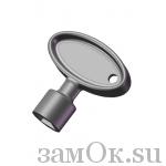 Замки Euro Locks Ключ короткий для F185, треугольник, никелированный (артикул S C987/D300) цена в розницу 81 ру замок.su (изображение №1)