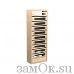 Почтовые ящики Ящик почтовый КПСп-10 б/з (артикул ЗТКПСП10) цена в розницу 0 ру замок.su (изображение №1)
