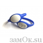 Электронные замки Ключ для электронного замка, резиновый браслет (синий) (артикул 0424 С) цена в розницу 148 ру замок.su (изображение №1)
