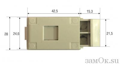 Щитовые замки Ручка-защелка 735-2 (артикул 0264) цена в розницу 27 ру замок.su (изображение №4)