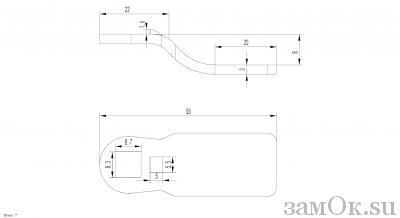 Ригели для замков Ригель 705 ( 8мм) (артикул 0863) цена в розницу 19 ру замок.su (изображение №2)