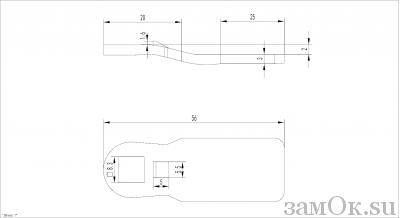 Ригели для замков Ригель 705 ( 2мм) (артикул 0885) цена в розницу 19 ру замок.su (изображение №2)