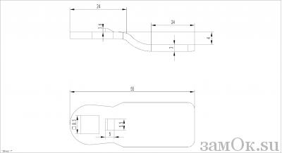 Ригели для замков Ригель 705 ( 4мм) (артикул 0886) цена в розницу 19 ру замок.su (изображение №2)