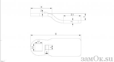 Ригели для замков Ригель 705 ( 6мм) (артикул 0887) цена в розницу 19 ру замок.su (изображение №2)