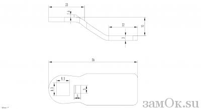 Ригели для замков Ригель 705 (10мм) (артикул 0888) цена в розницу 19 ру замок.su (изображение №2)
