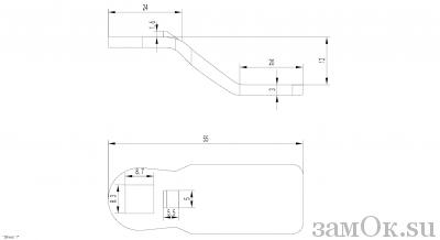 Ригели для замков Ригель 705 (12мм) (артикул 0889) цена в розницу 19 ру замок.su (изображение №2)