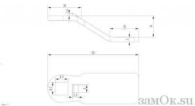 Ригели для замков Ригель 705 (14мм) (артикул 0893) цена в розницу 19 ру замок.su (изображение №2)