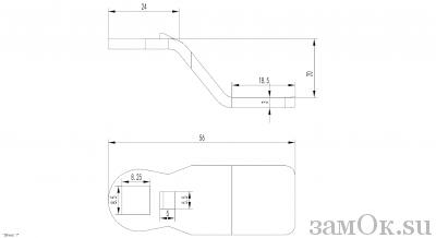 Ригели для замков Ригель 705 (20мм) (артикул 0895) цена в розницу 21 ру замок.su (изображение №2)