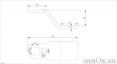 Ригели для замков Ригель 705 (22мм) (артикул 0896) цена в розницу 21 ру замок.su (изображение №2)