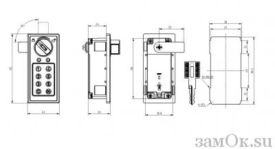 Кодовые замки Замок мебельный кодовый 095C-1885 (артикул 0098 C) цена в розницу 985 ру замок.su (изображение №7)