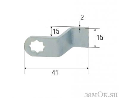 Ригели для замков Ригель изгиб 15 мм (артикул 0870) цена в розницу 12 ру замок.su (изображение №2)