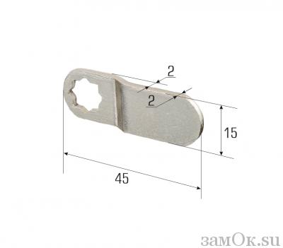 Ригели для замков Ригель изгиб 2 мм (артикул 0871) цена в розницу 12 ру замок.su (изображение №2)