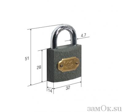 """Навесные замки Замок навесной тип """"маленький"""" (артикул 0200) цена в розницу 69 ру замок.su (изображение №1)"""