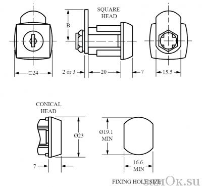 Почтовые замки Замок мебельный кулачковый 0801 Euro Locks (артикул 0801537/21737) цена в розницу 293 ру замок.su (изображение №4)