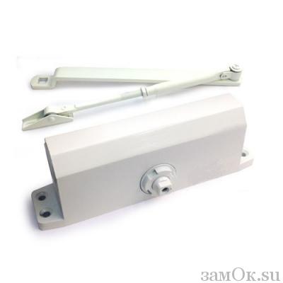 Дверные доводчики Доводчик МСМ 180 кг. (Белый) (артикул ЗТМСМ180кгБ) цена в розницу 2703 ру замок.su (изображение №1)