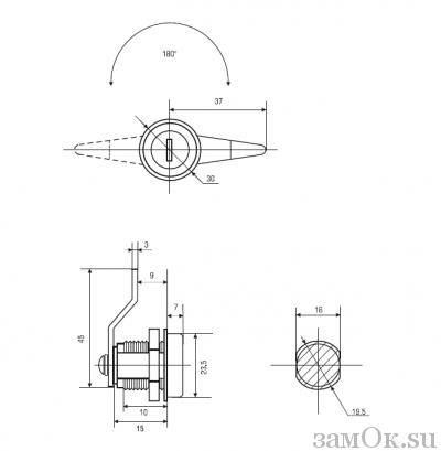 Почтовые замки Замок Авангард 180° (артикул 0101) цена в розницу 71 ру замок.su (изображение №2)