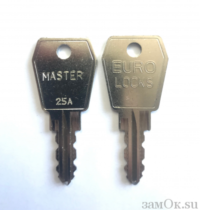 Замки Euro Locks Ключ мастер А, серия 25, 27 (артикул MAS\S25A/98) цена в розницу 1121 ру замок.su (изображение №1)