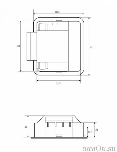 Фурнитура Ручка ШП 73х84 (артикул 0267) цена в розницу 69 ру замок.su (изображение №7)