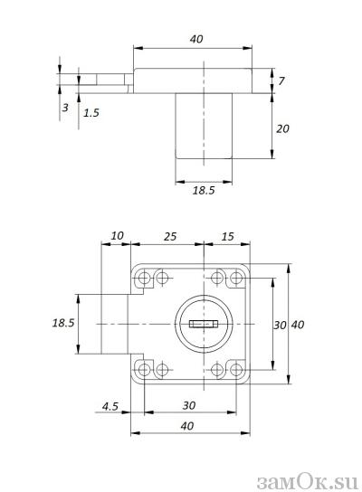 Мебельные замки Замок мебельный 138 пк (артикул 0141) цена в розницу 48 ру замок.su (изображение №2)