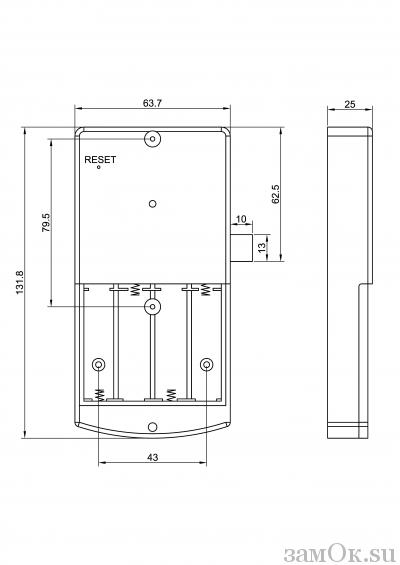 Электронные замки Замок мебельный, электронный TAB IС-008 ключ желтый (артикул 0450 Ж) цена в розницу 1631 ру замок.su (изображение №3)